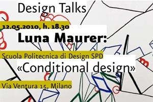 Incontro con luna maurer scuola politecnica di design for Scuola design milano