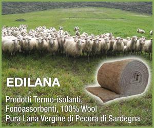 Isolanti in pura lana di pecora di Sardegna