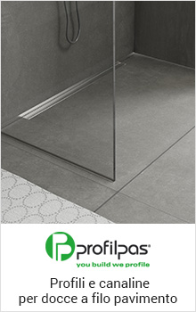 Profili e canaline per docce a filo pavimento