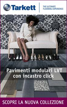 Pavimenti modulari LVT con incastro click